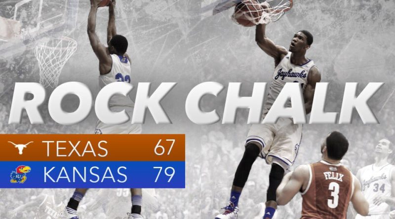 Kansas overcomes a career day from Texas freshman Jarrett Allen and KU moves to 7-0 in conference play. Graphic by Nick Weippert.