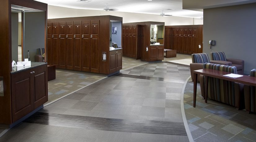 Fitness Center Carpet & Ceramic Tile