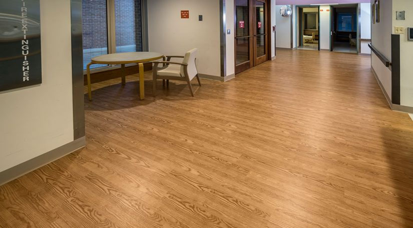 Medical Facility Vinyl Plank Room
