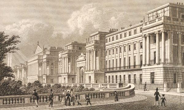 View of Cumberland Terrace, part of John Nash's design for Regent's Park in central London, 1827. Courtesy of the British Museum
