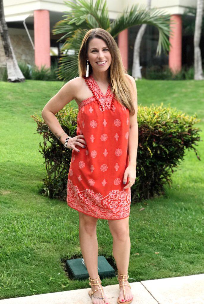 loft coral dress