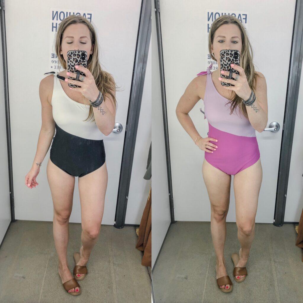 Old Navy One-Shoulder Color-Block Swimsuit for Women