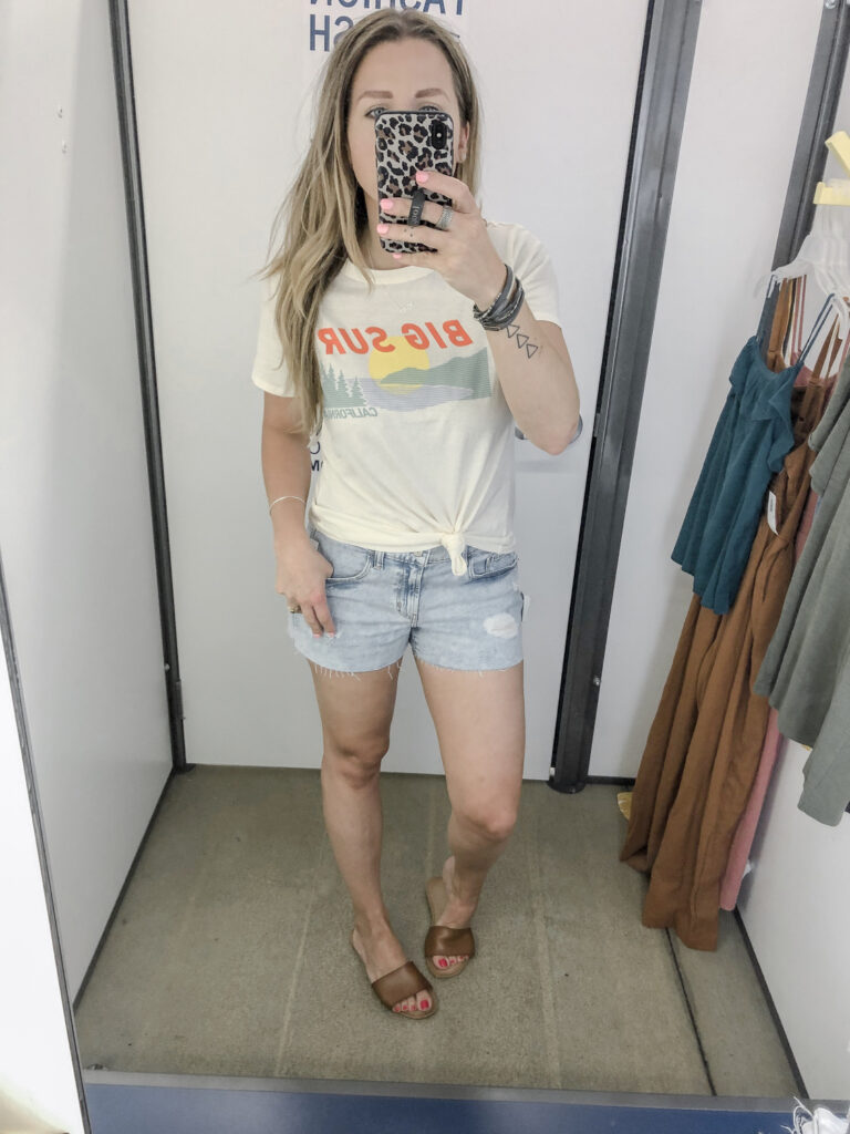 Old Navy Graphic Tee and Boyfriend Shorts