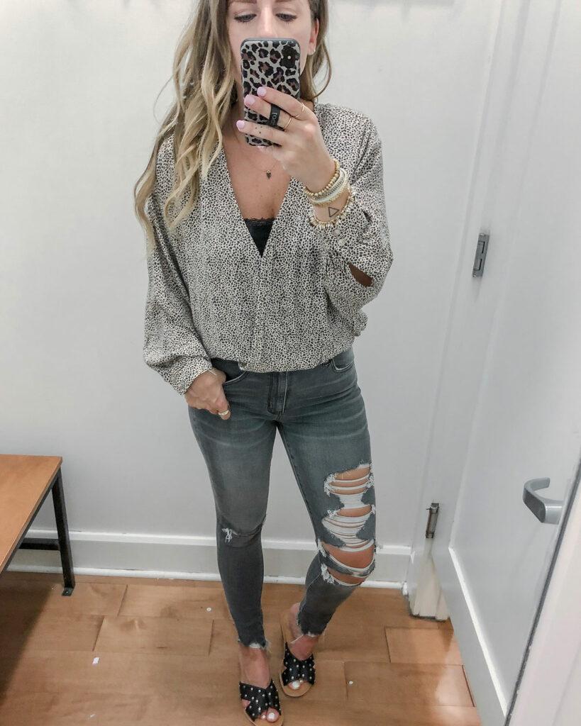 Leopard Cropped Blouse