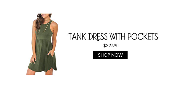 Amazon Tank Dress with Pockets