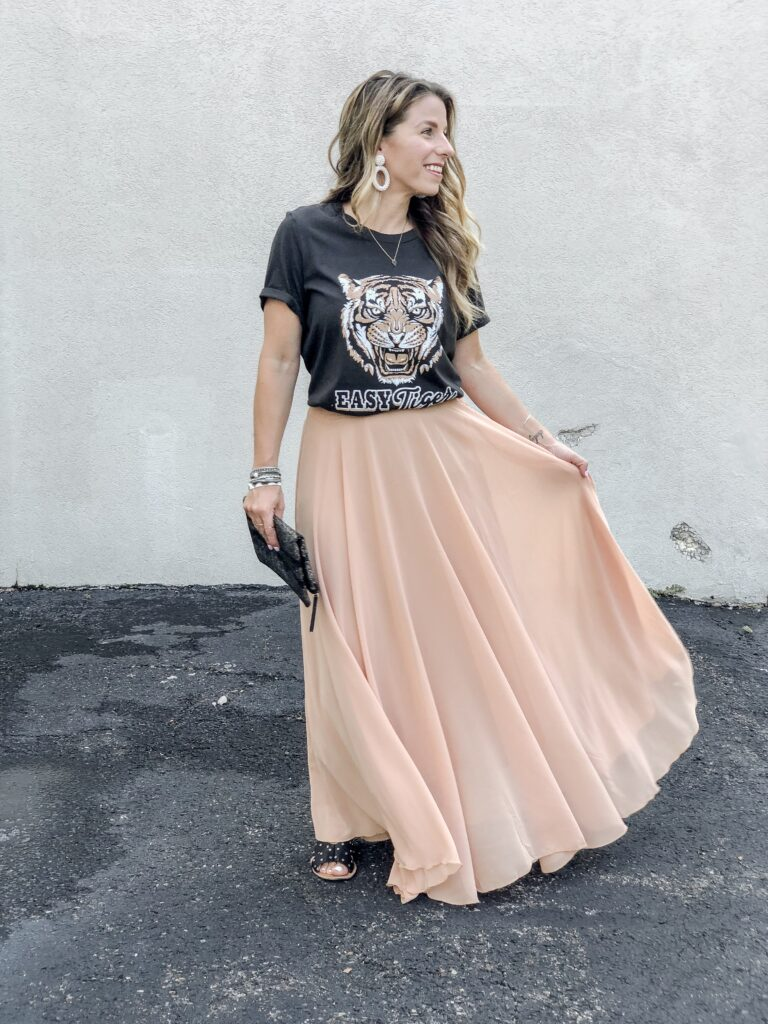 Chicwish Maxi Skirt Outfit