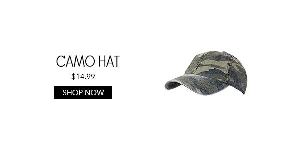 Womens Camo Baseball Hat