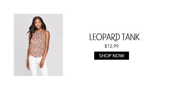 Womens Leopard Tank
