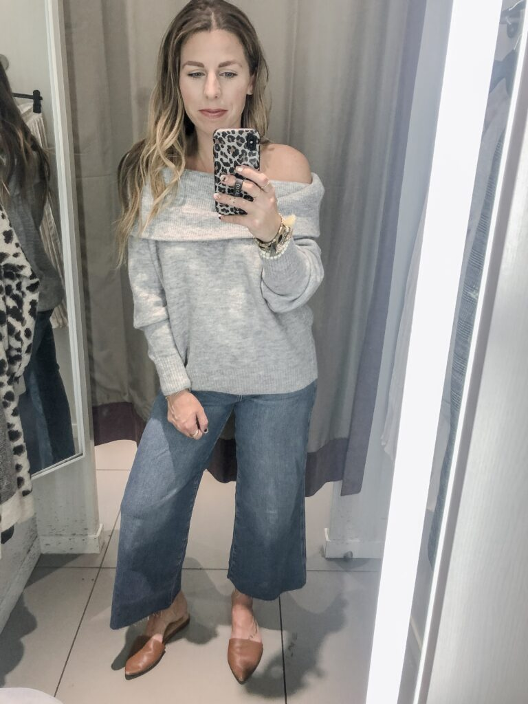 H&M 2019 Fall Collection Off the Shoulder Sweater