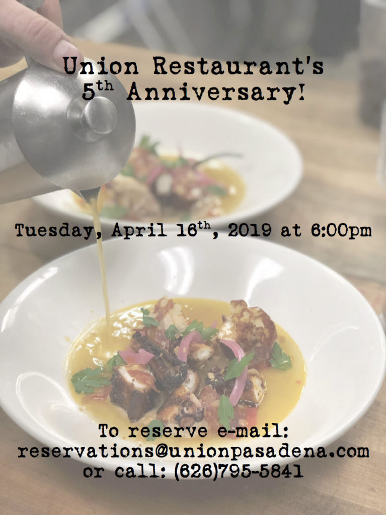 1b892e8c We hope you can join us as we celebrate our 5 Year Anniversary! Chef Chris  Keyser and our team of talented cooks have created a beautiful seasonal  menu just ...