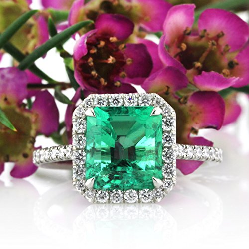 Mark Broumand 2.84ct Emerald and Diamond Engagement Ring