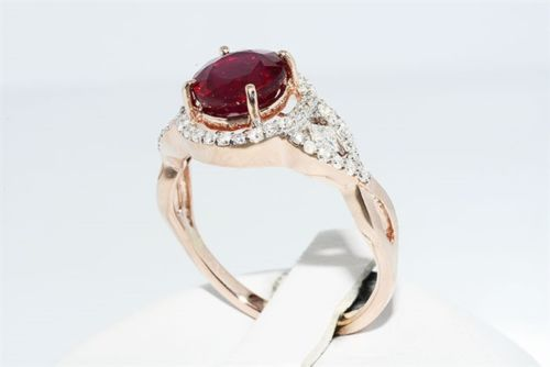 2.45 Ct Ruby and Diamond Ring
