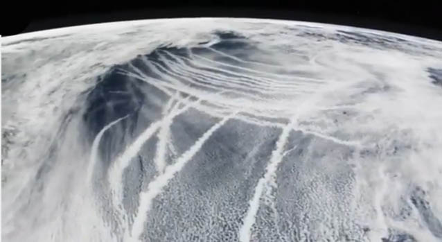 Satellite photo of the Northeast just prior to Superstorm Sandy (aka Frankenstorm Sandy) captures the enormity and intensity of chemtrailing operations.