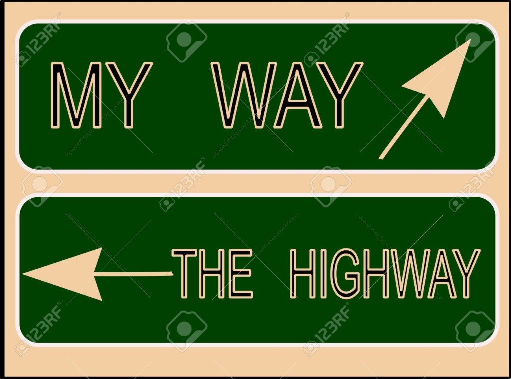 13476195-my-way-or-the-highway-sign--Stock-Photo