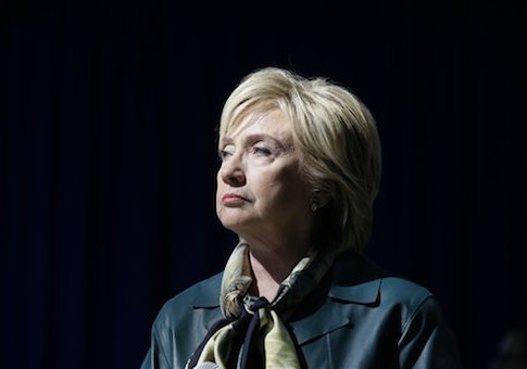 Democratic presidential candidate Hillary Rodham Clinton speaks during a community forum, Tuesday, Oct. 6, 2015, in Davenport, Iowa. (AP Photo/Charlie Neibergall)