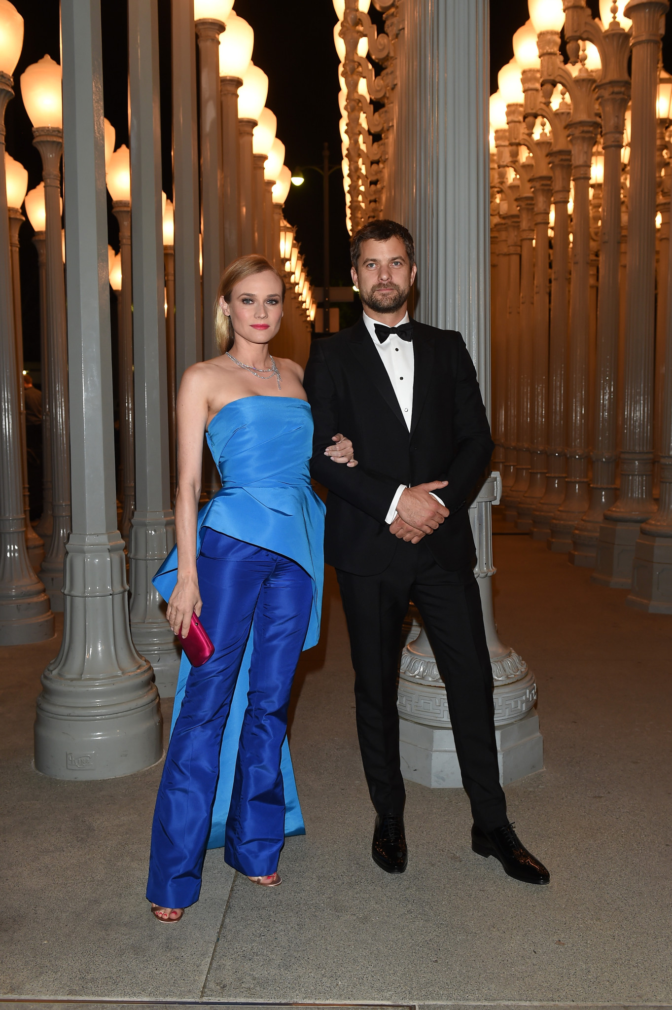 LOS ANGELES, CA - NOVEMBER 07: Actors Diane Kruger (L) and Joshua Jackson attend LACMA 2015 Art+Film Gala Honoring James Turrell and Alejandro G Iñárritu, Presented by Gucci at LACMA on November 7, 2015 in Los Angeles, California.  (Photo by Venturelli/Getty Images For LACMA) *** Local Caption *** Diane Kruger;Joshua Jackson