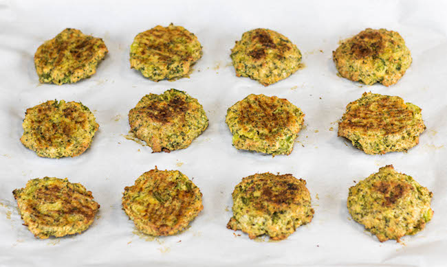 Broccoli Cheese Bites right out of the oven. SO GOOD! Kids love these.