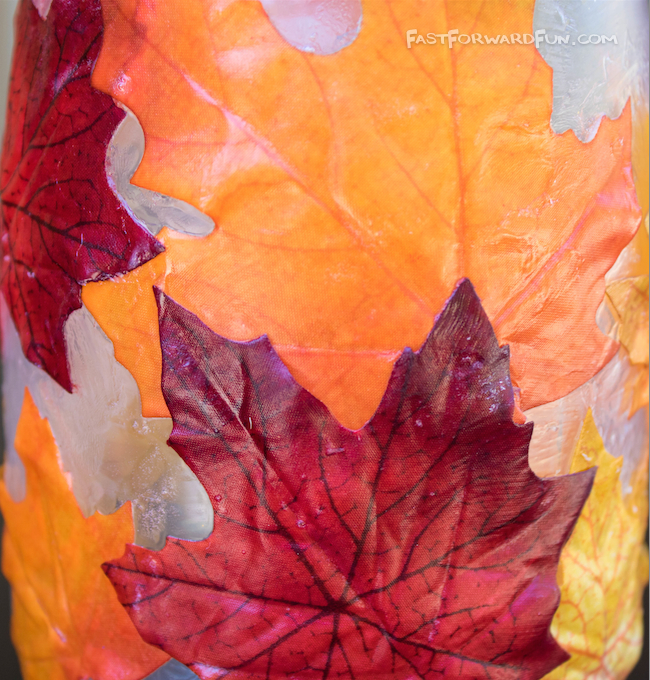 Easy DIY Fall Leaf Candle Holder