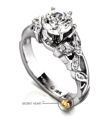 Mark Schneider diamond 14kt. white gold engagement ring Adore
