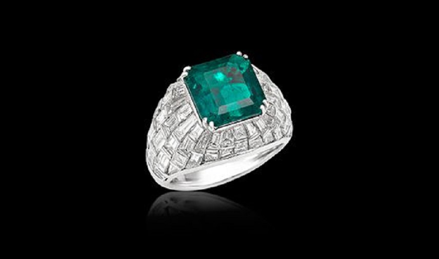 Emerald and Diamond Ring by Picchiotti