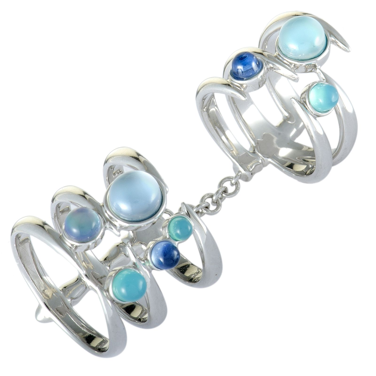 Stephen Webster Jewels Verne Silver Turquoise, Blue Agate, Lapis, Mother of Pearl