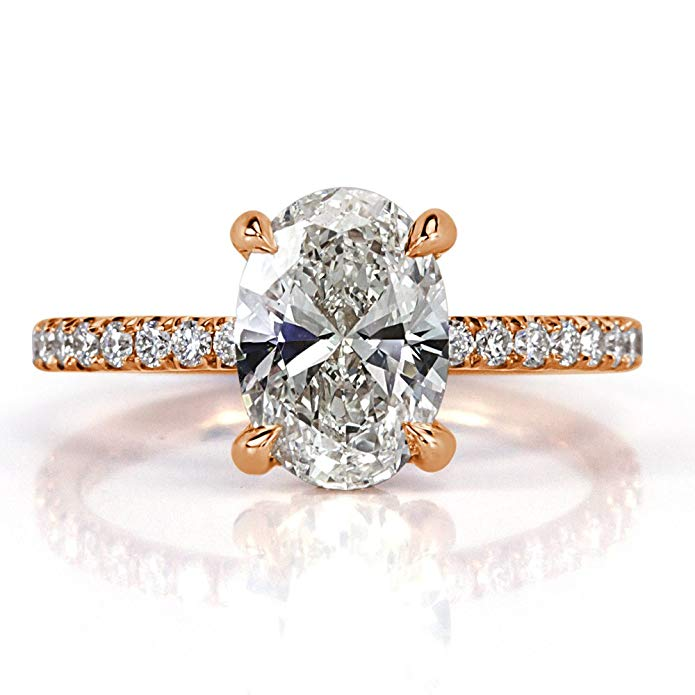 2.16 Oval Cut Diamond Engagement Ring