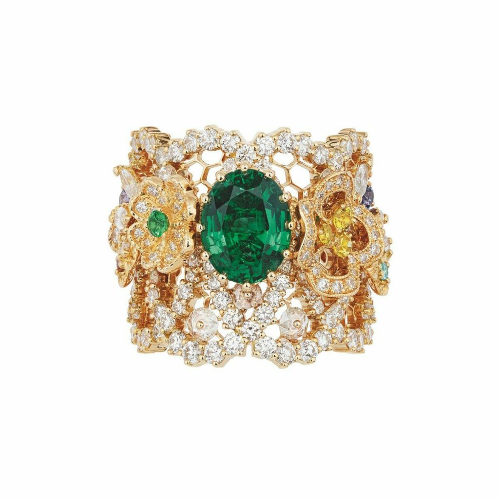Emerald and Diamond Ring by Dior