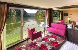 River cruise ship charters, Avalon Waterways Artistry II suite in Europe