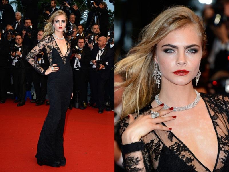 Cara Delevingne Cannes-Film Festival Elbisesi