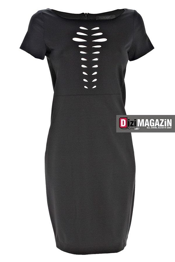 İntikam Kıyafetleri Beren Saat Siyah Elbisesi Pinko Marka