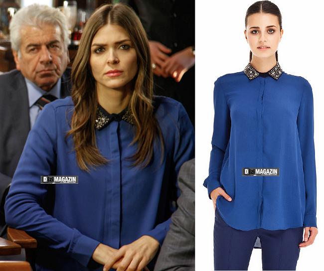İntikam Aslı Kıyafetleri - Mavi Gömlek - İpekyol
