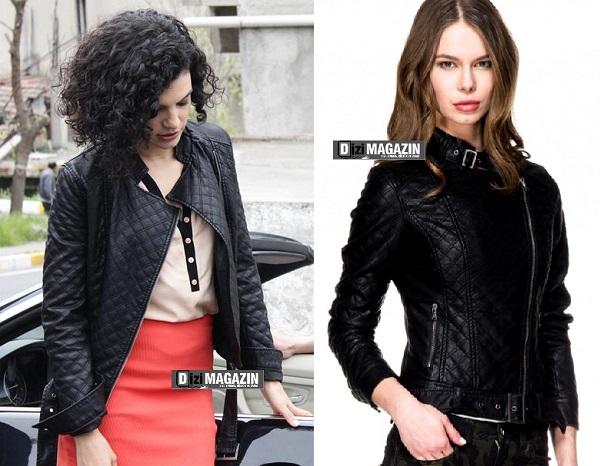 Medcezir Leyla - Siyah Deri Ceket - adL