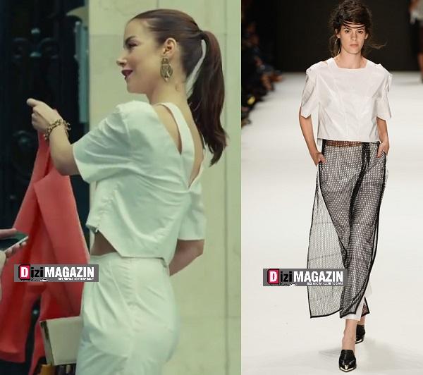 Medcezir Sedef - Beyaz Bluz ve Pantolon - Özlem Kaya