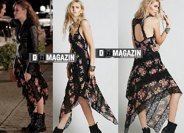 Medcezir Kıyafetleri - Mira - Çiçekli Elbise - Bensanabulurum