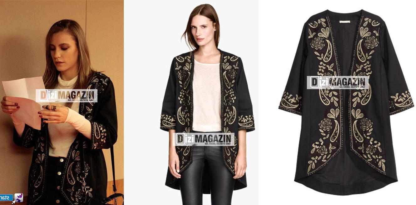 Medcezir Mira Kıyafetleri -Mira Siyah Kimono-H&M