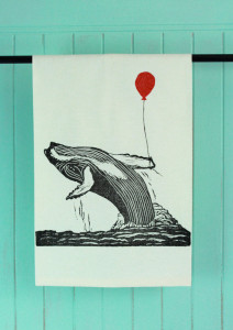 Humpback Whale towel by Brindy Linens