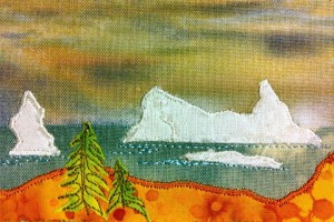 Iceburg embroidery by Jenna Foulds