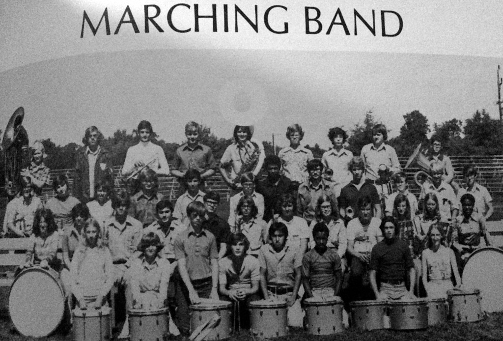 The RFH Marching Band in 1976. Photo/RFH yearbook screenshot