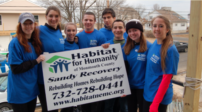 RFH Students Help Habitat for Humanity Build for Sandy Victims