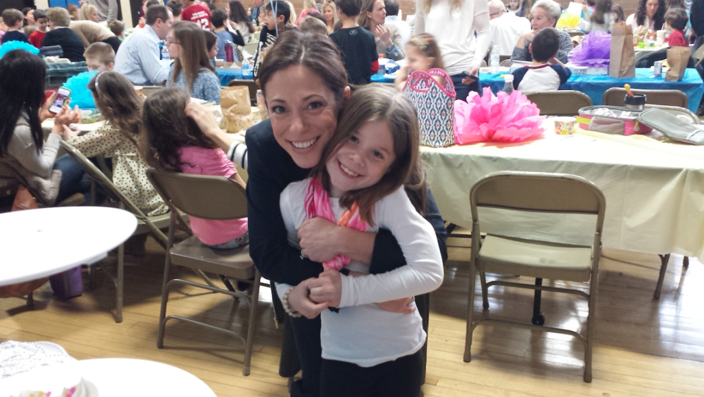First grader Ava Strandberg and her VIP, mom Stacey, enjoy the fun at Sickles School's Lunch with a VIP celebration. Photo/courtesy of Fair Haven School District