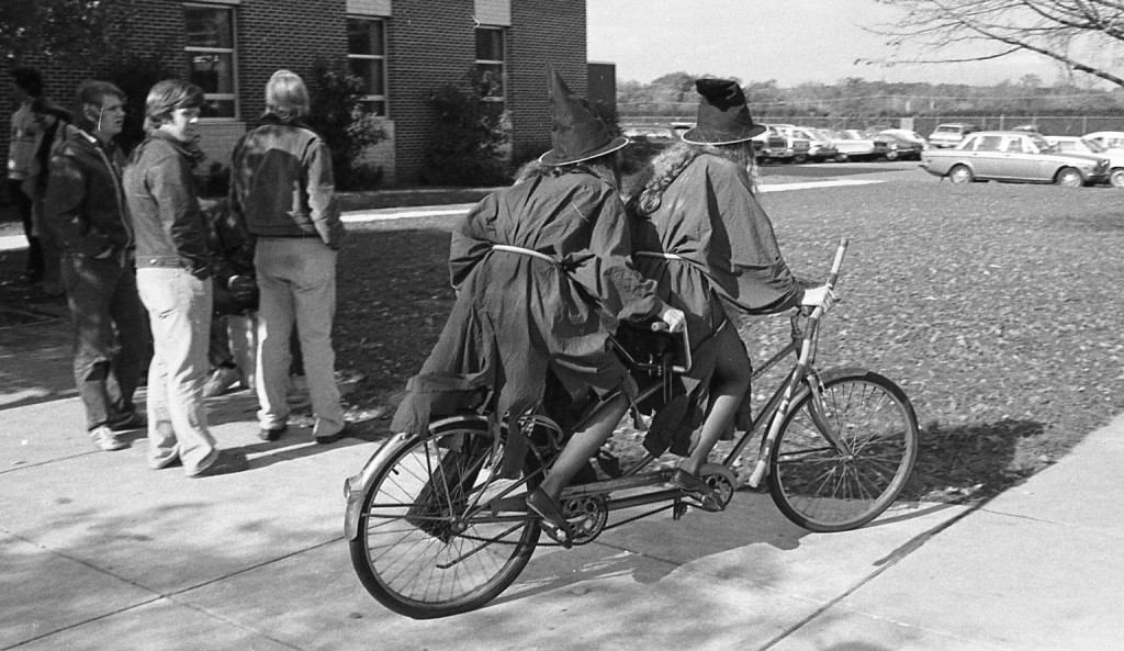 A witchy retro bike ride at RFH circa 1970s Photo/George Day