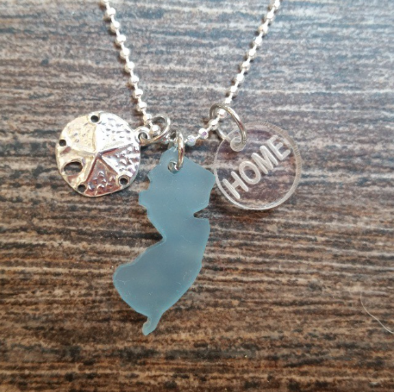 New Jersey sea glass necklace  Photo/Facebook screenshot