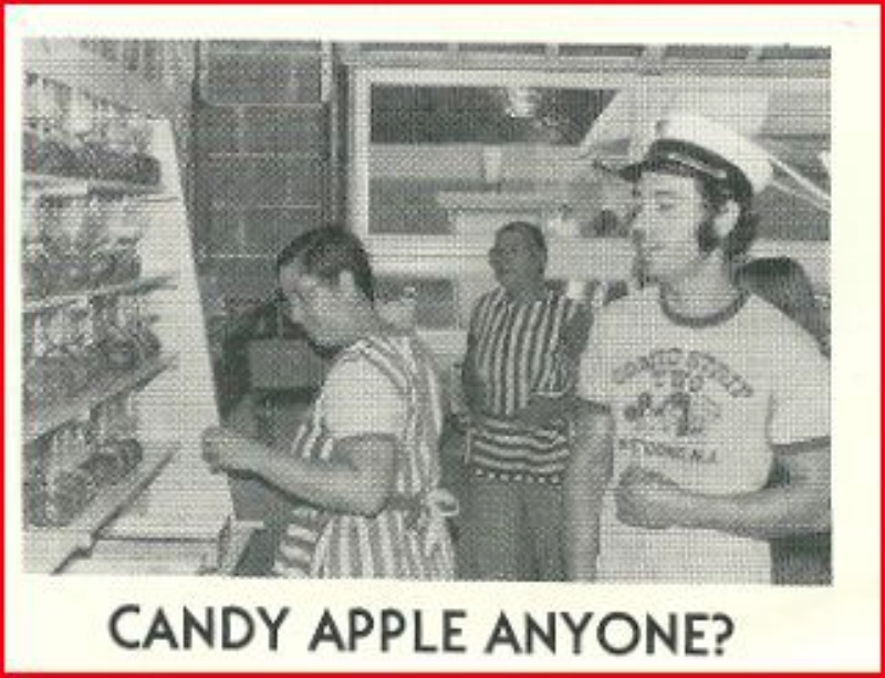 Candy, Ray and Marion Bennett tend to the candy apples at the Fair Haven Firemen's Fair circa 1979 Photo/Fair Haven Fire Department Yearbook, courtesy of Evie Connor Kelly