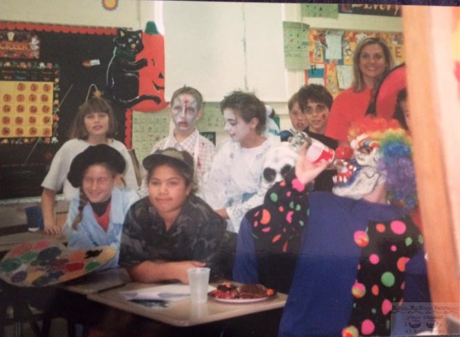 Ghosts and ghouls of Knollwood School in the 1990s Photo/Courtesy of Whitney Breckenridge