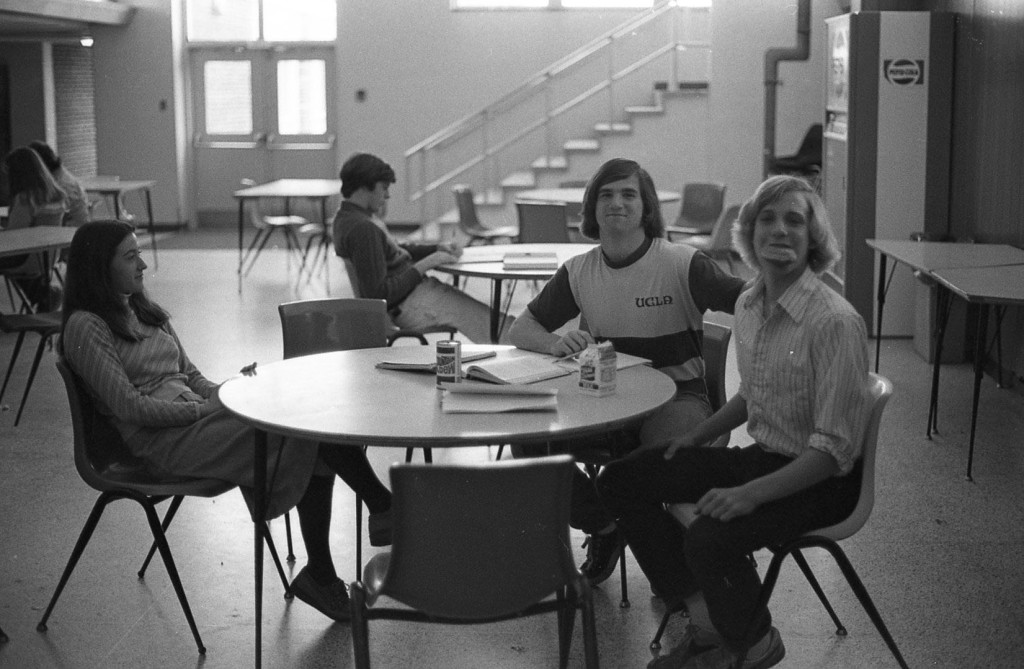 Juniors of the RFH Class of '79 lounge in the Junior Lounge Photo/George Day