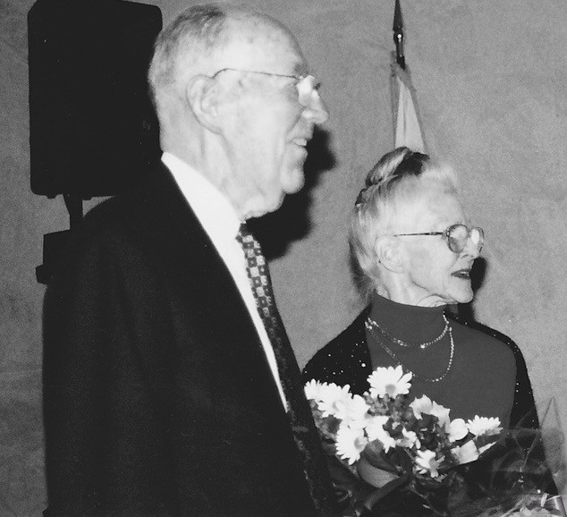 Dr. John Movelle and wife Betty circa 2001 Photo/Kathy Robbins