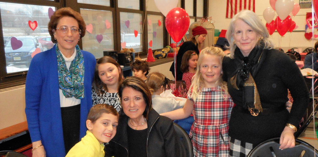 Enjoying Lunch with a Loved One at Deane Porter School are Joseph Whitehouse and his grandmother Elaine Sourlis and Maria Ursino and her cousin Cecilia Ciambrone, and Reagan Haley and her grandmother Ginger Kriegel. Photo/Rumson School District