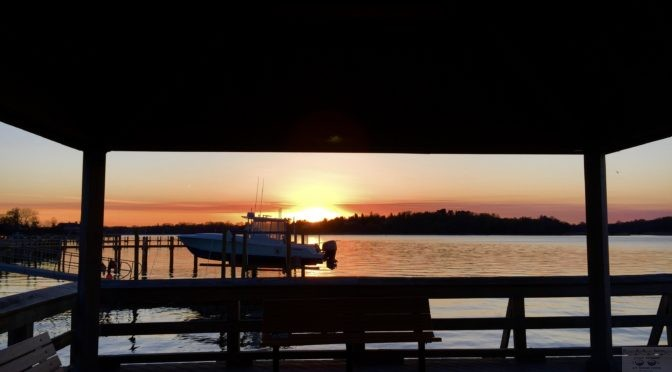 Focus: Fair Haven Dock Spring Sunset