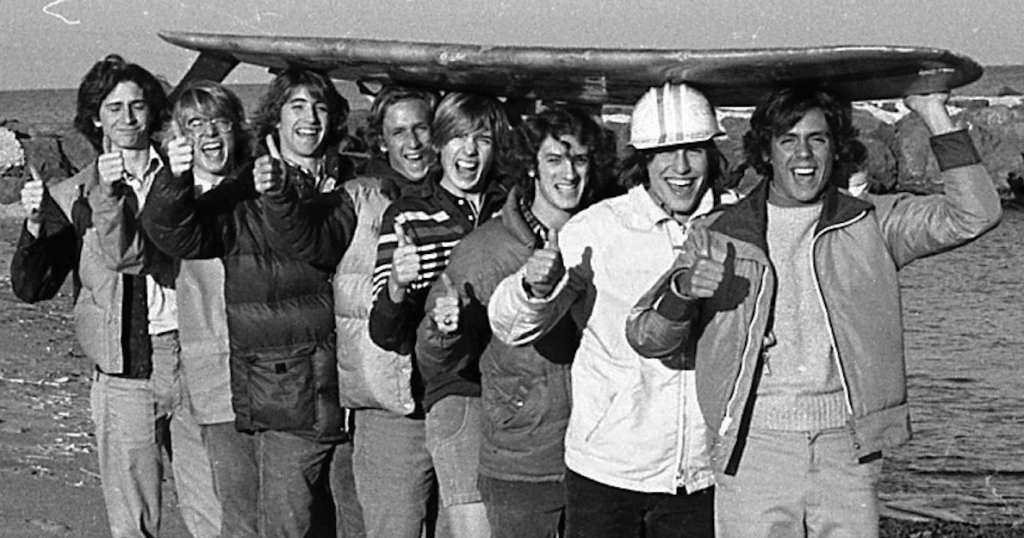 RFH Class of '78 surfing buddies Photo/George Day