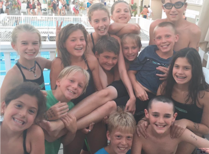 A swim meet win at Surfrider Beach Club and smiles from the team enjoying a simple summer. Photo/Colleen Dougherty Doogan